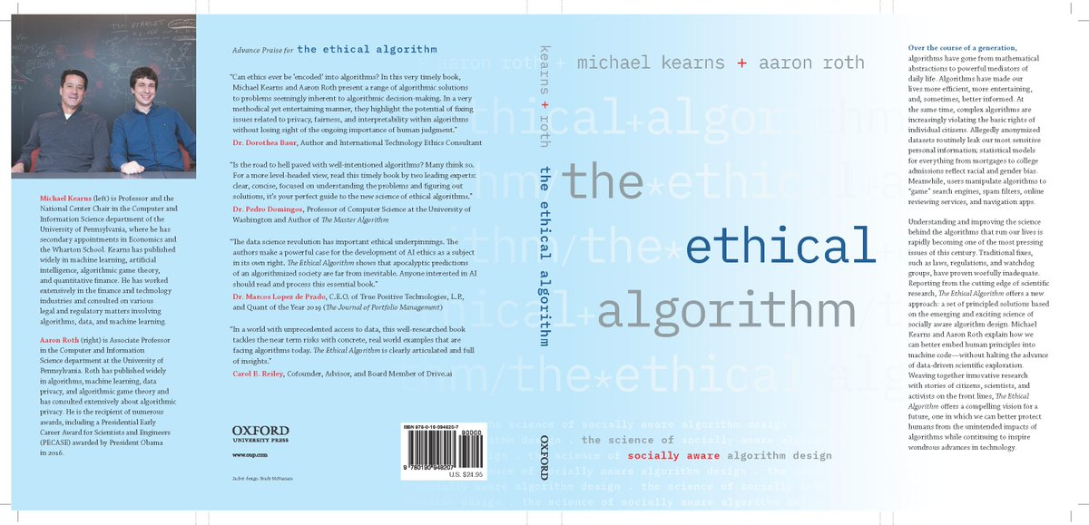 Book cover - The Ethical Algorithm